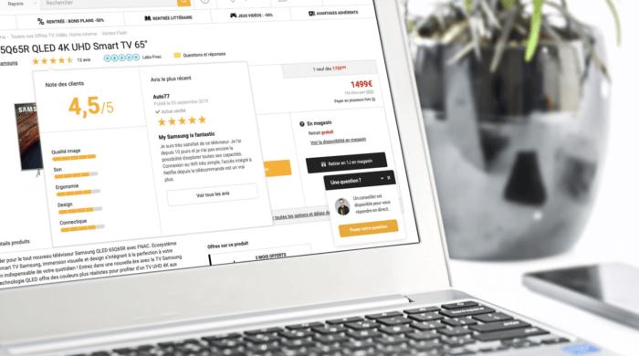 Visuel Le poids des notes et des avis utilisateurs sur les achats