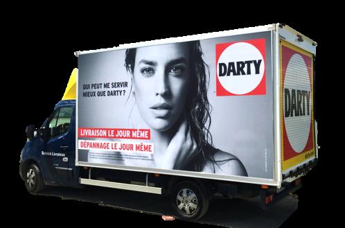 Retailink Fnac Darty camions de livraison Darty