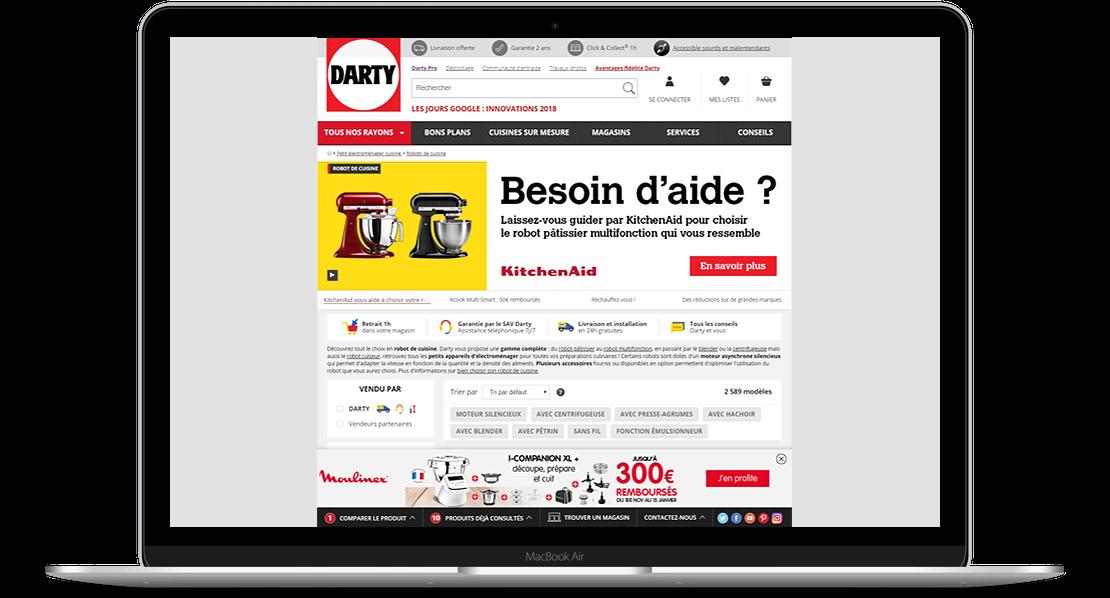 Retailink display Moulinex Companion Groupe Seb