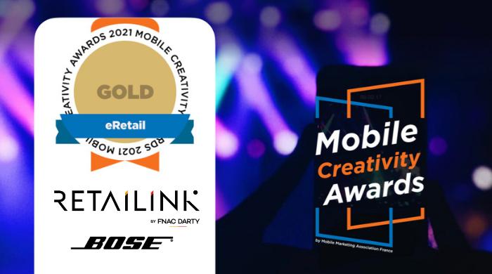 Visuel Retailink & Bose lauréats e-retail des Mobile Creativity Awards 2021